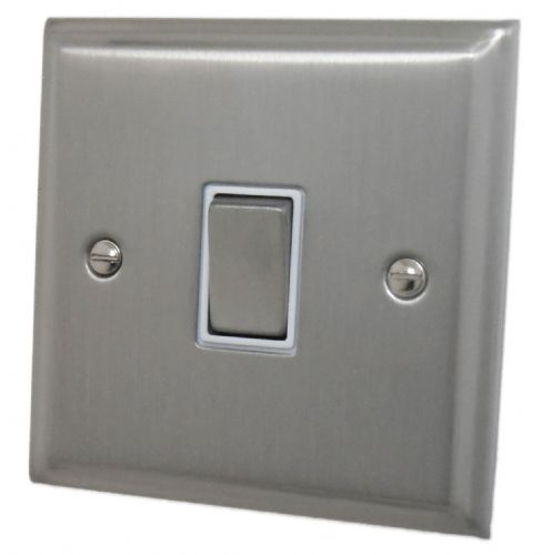 G&H DSN201 Deco Plate Satin Nickel 1 Gang 1 or 2 Way Rocker Light Switch